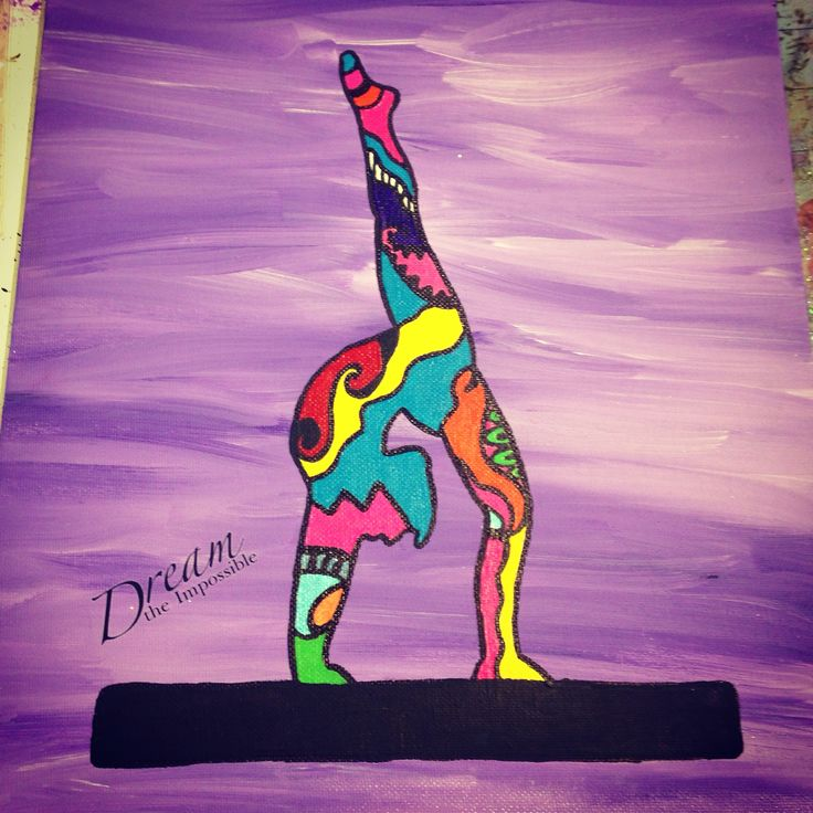 Zen inspired gymnast painting. Cool drawings, Gymnastics