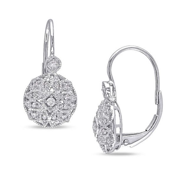 1 8 Ct T W Diamond Vintage Style Drop Earrings In 14k White Gold Tiny Stud Earrings Natural Stone Jewelry Fashion Earrings