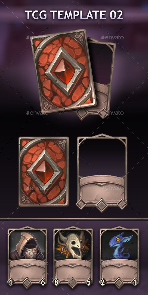 Tcg Template 02 Miscellaneous Game Assets Download Link Https