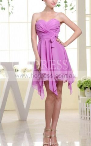 A-line Sweetheart Asymmetrical Chiffon Empire Formal Dresses gt3463--Hodress