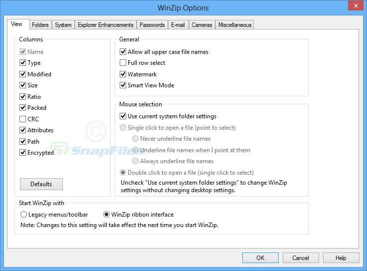 WinZip PC Images