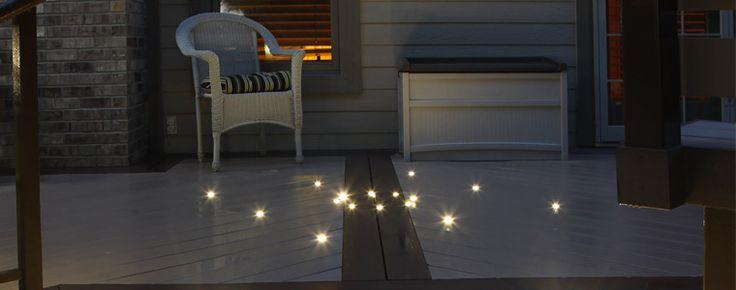 DECK LIGHTS AT NIGHT - DEK DOTS LED DECK LIGHTS FROM DEKOR™