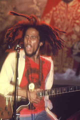 **Bob Marley & The Wailers** Music Hall, Boston, MA, USA, April 25, 1976. ►For listening: https://www.youtube.com/watch?v=7Ny4WavyF8o&t=3741s. ►►More fantastic pictures, music and videos of *Robert Nesta Marley & His Wailers* on: https://de.pinterest.com/ReggaeHeart/ ©Donna Paula/ http://www.donnapphotos.com