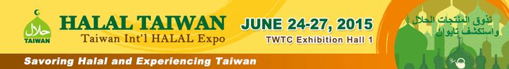 Hey hey hey! come join the Taiwan International Halal Expo happening on 24 Jun 2015 at Taipei World Trade Center Taipei, Taiwan. Its a premier event in Meat, Poultry & Seafood industry.   Come now and learn more about the food business! great opportunity awaits you!  DISCOVER. ENJOY. EXPERIENCE. LEARN  TAIPEI, TAIWAN.