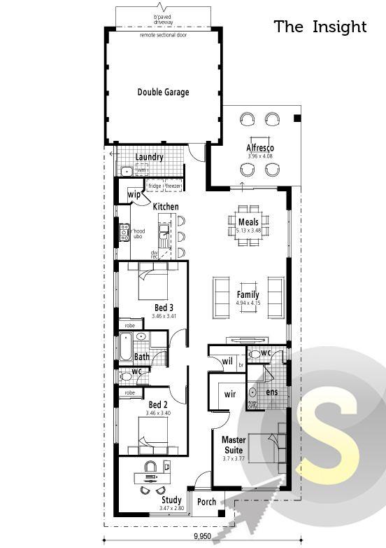 Rear garage home designs perth Home design