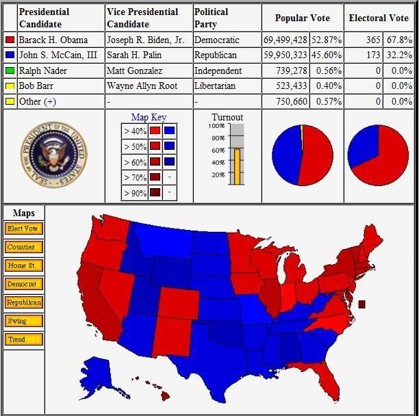 US Election Results 2012 - Map and Stats - The Wondrous Pics