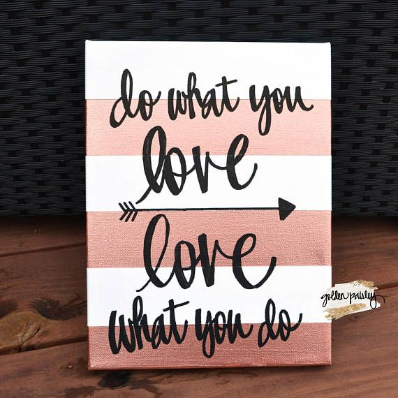 Rose Gold Canvas Art Rose Gold Quote Inspirational Quote Art Quotes On Canvas Rose Gold Decor Girl Bos Canvas Art Wall Decor Canvas Quotes Online Wall Art