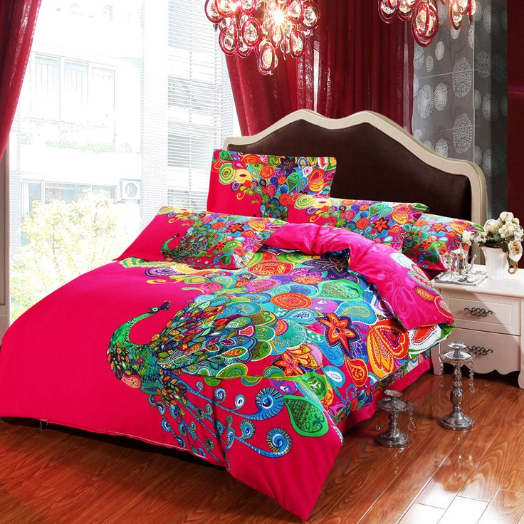 Find more bedding sets information about new design 4pcs chinese style peacock bedding set with - Peacock bedspreads ...