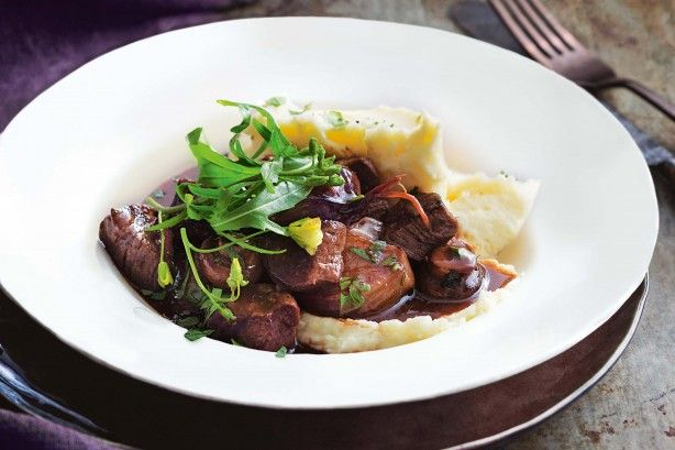 """""""I love the flavours of a hearty beef bourguignon but sometimes you just want it 'now!' This quick version still has a rich depth of flavour, but comes together in a flash."""" - Valli Little"""