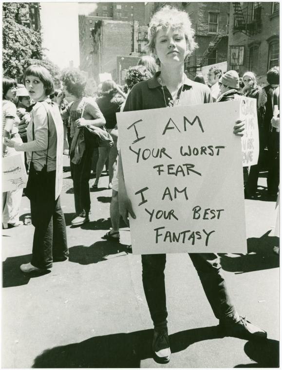Feminist Protester, 1970's. #woman #protester #feminism