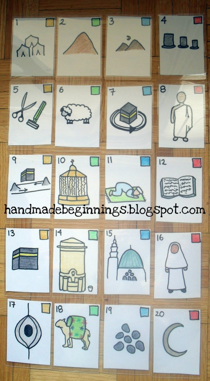 handmade beginnings: Hajj Journey Wooden Board Game