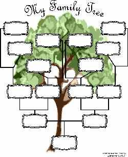 Free Family Tree Template - Interactive! You type in your family names and print!