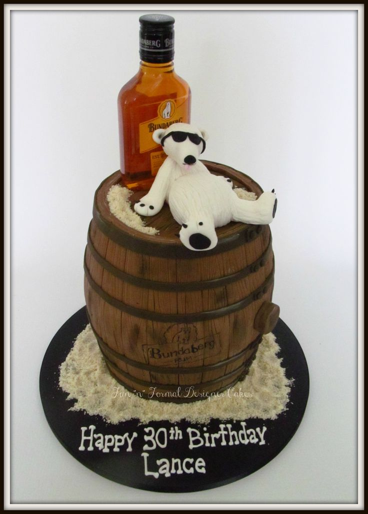 Bundaberg Rum and Bundy bear birthday cake.