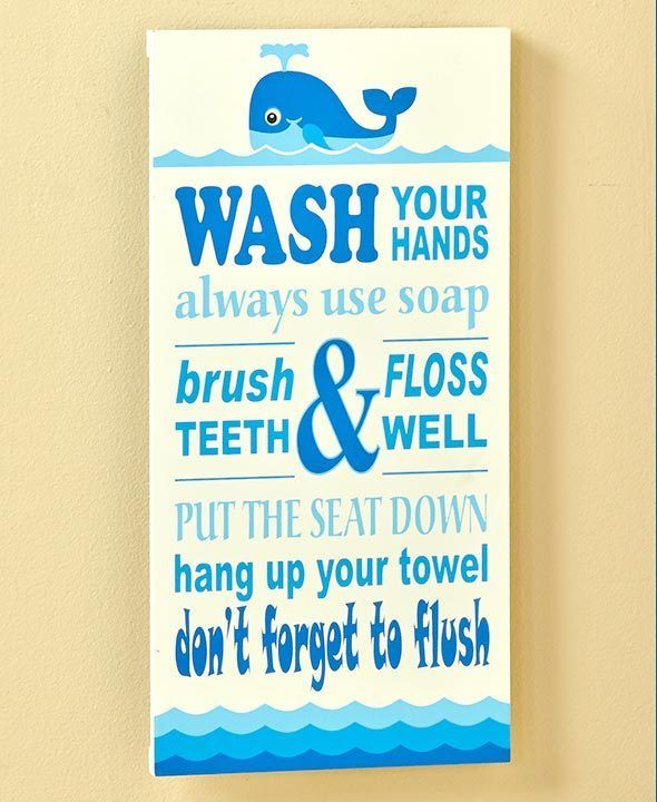 Whale Bathroom Rules Wall Plaque Sign Picture Kids Ocean Bath Home Decor New Unbrandedgeneric