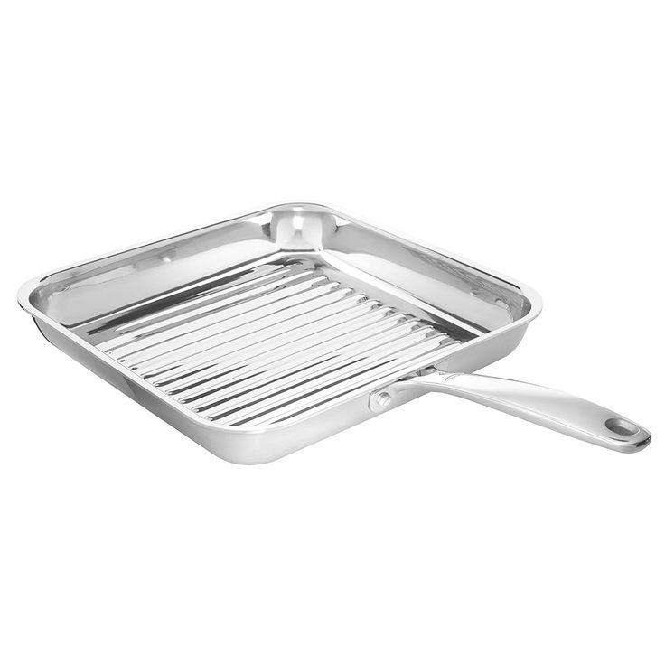 """OXO Good Grips Tri-Ply Stainless Steel Pro 11"""" Square Grillpan"""