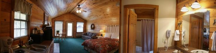 Pine Lodge Resort Grand Lake Oklahoma Log Cabin with Hot Tubs and Wood Burning Fire Places