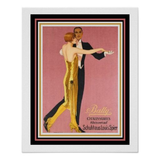 """Art Deco """"Bally Chaussures"""" Poster 16 x 20"""