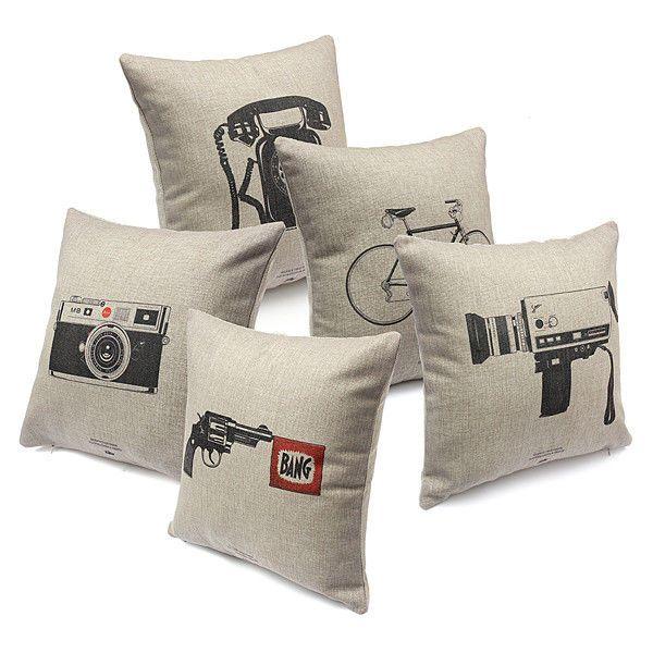 Vintage Leaves Flower Cotton Linen Throw Pillow Case Waist Cushion design Gift #Unbranded