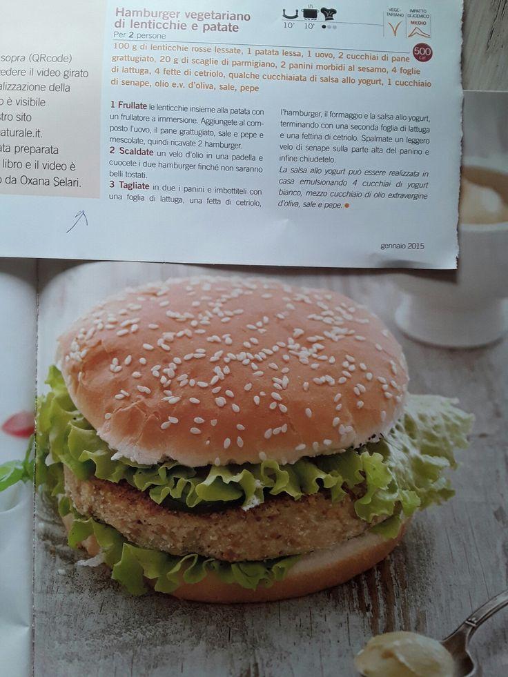 Hamburger vegetariano lenticchie e patate