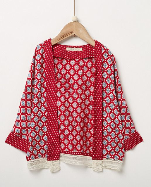 Kimono de niña Sfera con puntilla