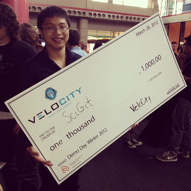 SciGit wins best demo from the VeloCity residence! [Blog]