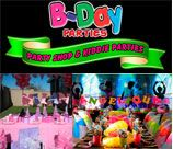 B-Day Parties distribute themed kids birthday party supplies throughout South Africa. At B-Day Parties you can now shop online for party supplies, party decorations, party favours, baby shower party supplies and it is directly shipped to you. Over 150 party themes available.