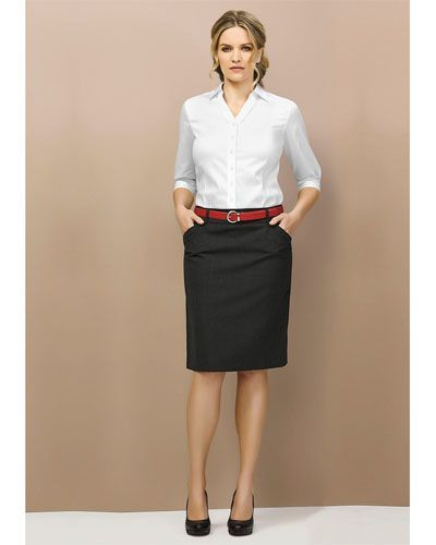 #BC Range #Corporate #Skirt Code 24015 - Color:Black, Charcoal, Navy