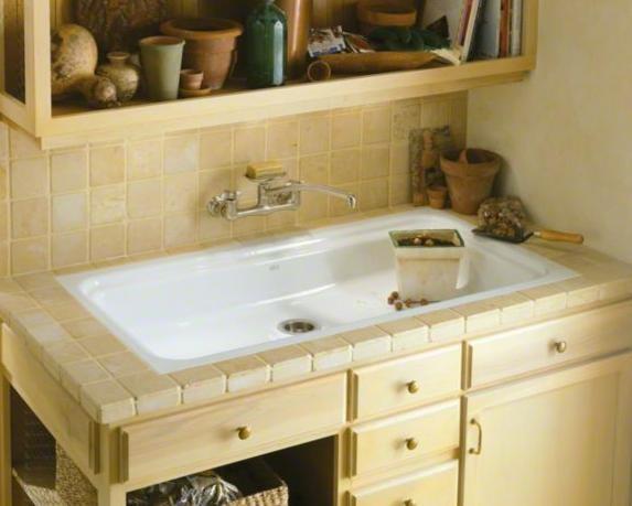KOHLER Oceanview Utility Sink Form Meets Function With The Oceanview Cast  Iron Utility Sink, Which