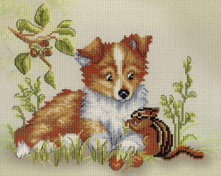 Картинки с вышивкой собак