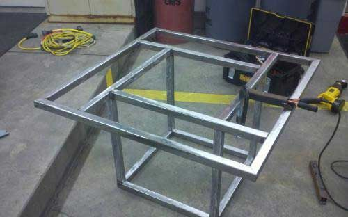9. Tables and stools >> Cool Welding Projects You Can Do At Home