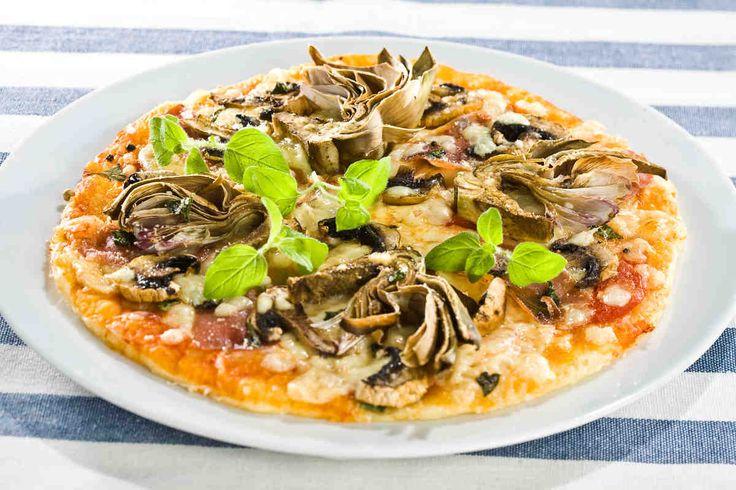 Pizza z karczochami #smacznastrona #przepisytesco #pizza #karczochy #pycha