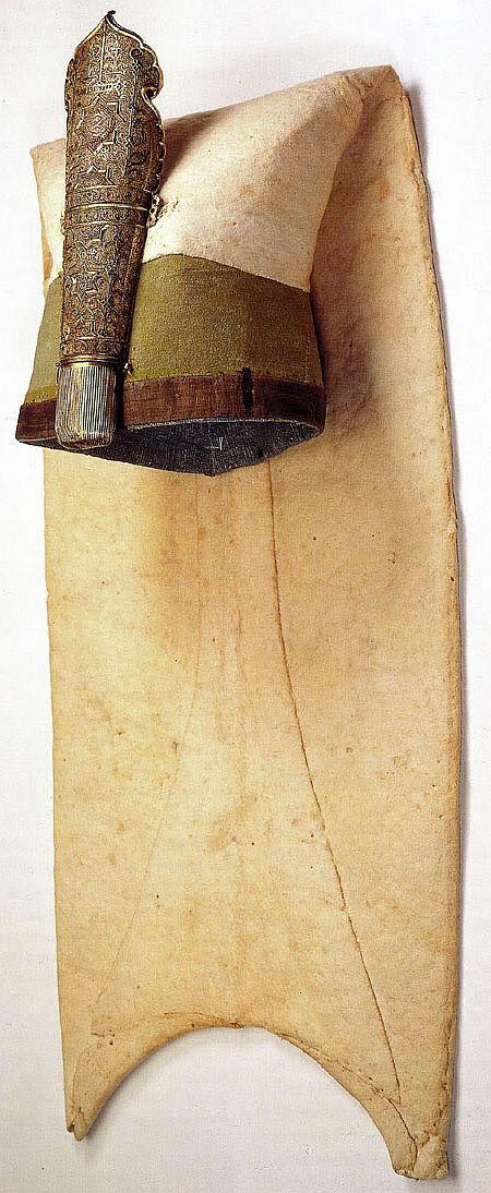 Yeniçeri Börkü (coiffe janissaire), de la seconde moitié du 17eme siècle au Museum de Karlsruhe (Karlsruhe Müzesi), Baden Allemagne.