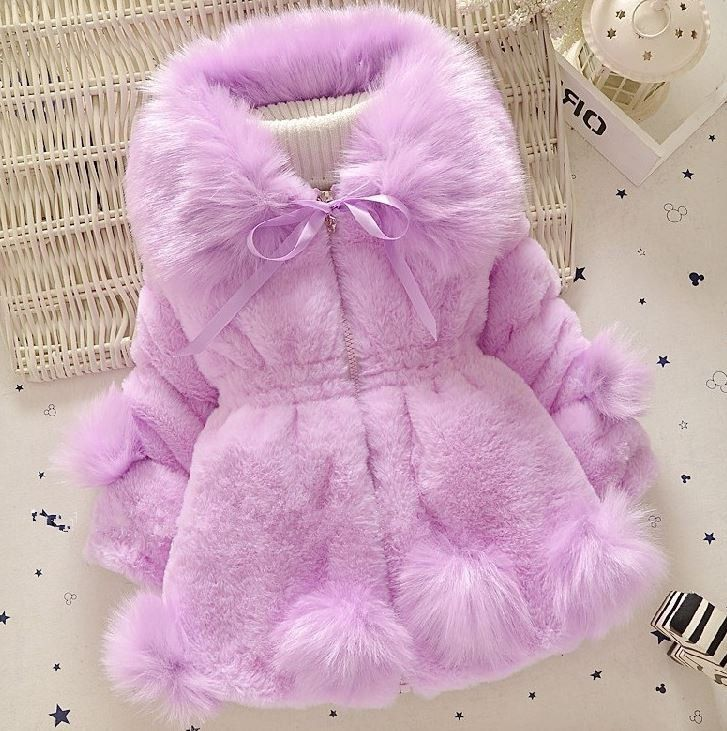 Baby Girl Clothes Winter, Fur Coat For Baby Girl