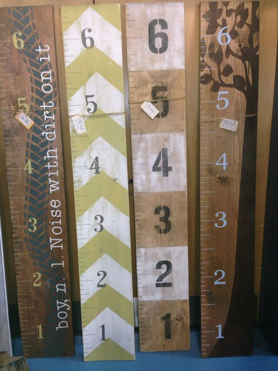 Wooden Growth Chart Growth Ruler by LittleMonkeyBiz on Etsy. I want the tree one!