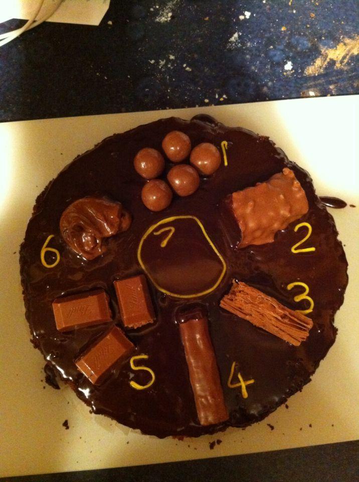 Bristol Stool Chart cake - maltesers, lion bar, flake, twirl, Lindt, Nutella, chocolate ganache!