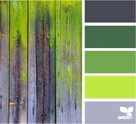 rustic grey with light lime green