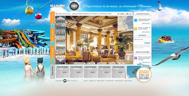 Web design for mamaia360 tour.