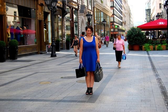 VGRV blog, royal blue dress
