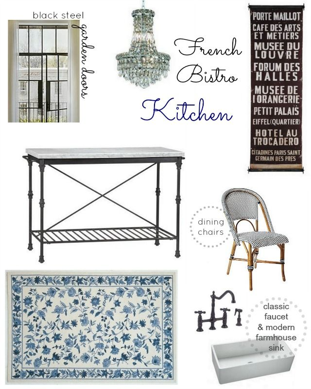 French Bistro Kitchen | Prairie Perch and Paris Banner by Black Rooster Decor!  sc 1 st  Pinterest & 55 best French Bistro Kitchen images by Leanne Haney on Pinterest ...