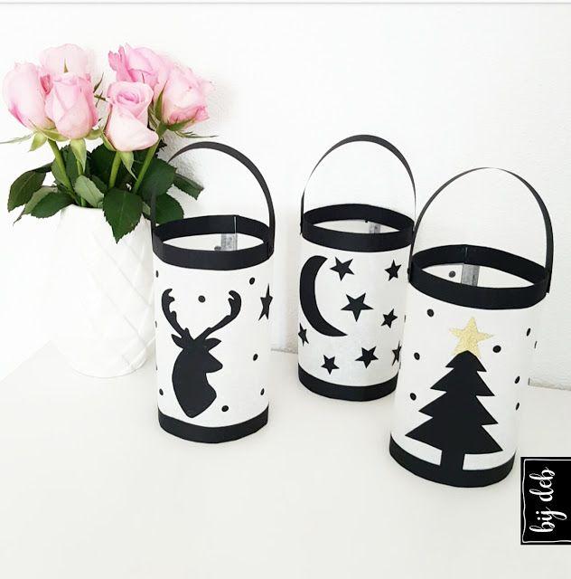 bijdeb: Diy Kerst Lampionnen maken..