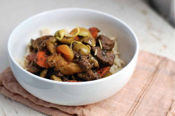 lamb tagine with apricots & olives // brooklyn supper
