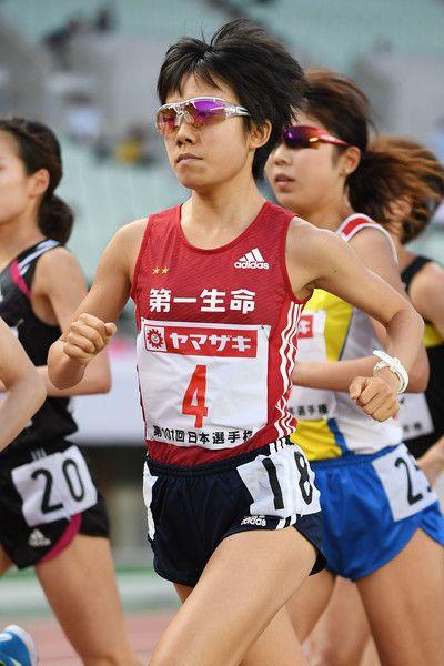 Miyuki Uehara of Japan (bronze) competes in the Women 10000m final during the 101st Japan National Championships at Yanmar Stadium Nagai on June 23, 2017 in Osaka, Japan.