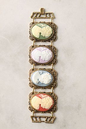 anthropologie cameo braceletWork Of Art, Chromatic Cameo, Hands Made, Vintage Wardrobe, Colors Palettes, Cameo Bracelets Anthropology, Jewelry, Accessories, Colors Cameo