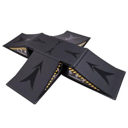 Skater ramp set, 5 pcs, Hudora  — 7900р. ----------------------- Собственная рампа Skater ramp set, 6 pcs подарит  ребенку неограниченный запас тренировок  и возможность отрабатывать трюки в домашних  условиях. Набор из трех частей позволит  юному спортсмену самостоятельно обустраивать  рампу на свой вкус. Максимальная нагрузка  не должна превышать 80 кг, что делает рампу  максимально доступной для взрослого человека.