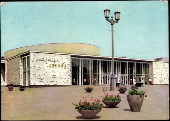 Ansichtskarte / Postkarte Berlin Friedrichshain, Kino Kosmos, Karl Marx Allee | akpool.de