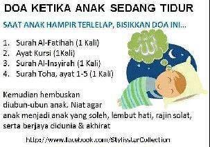 doa ketika anak tidur