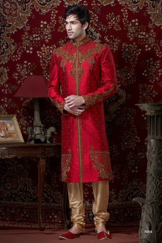 Sherwani For Men : Sherwani Designs, Designer, Groom & Wedding Sherwanis. We are Jugniji.com selling Indian wedding sherwanis online and on this page you can buy @ Shop online at http://jugniji.com/mens-collection/classic-sherwani-collection/classic-sherwani-2084.html