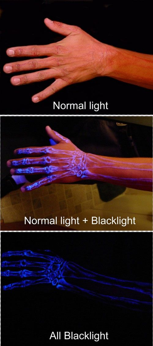 Blacklight Tattoo (kinda makes me want one because no one would see it in daylight). I wouldn't get this though./CAUSE U WOULD WAKE UP IN THE DARK, AND SCARE YOURSELF!LOL,ITS CUTE