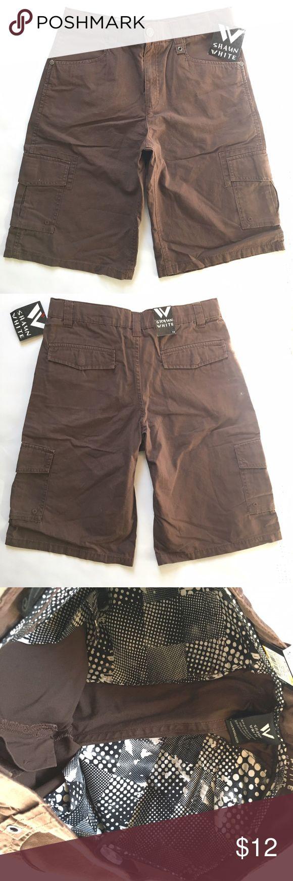 "Shaun White Men's Brown Shorts Size 14 NWT Shaun White Men's Knickers Brown Shorts Size 14 NWT. Inseam: 11.25"" Outseam: 21.25 Color: Knickers Brown Shorts Cargo"