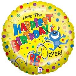 Happiest Birthday Foil Balloon with National UK Delivery only £9.95 Boxed
